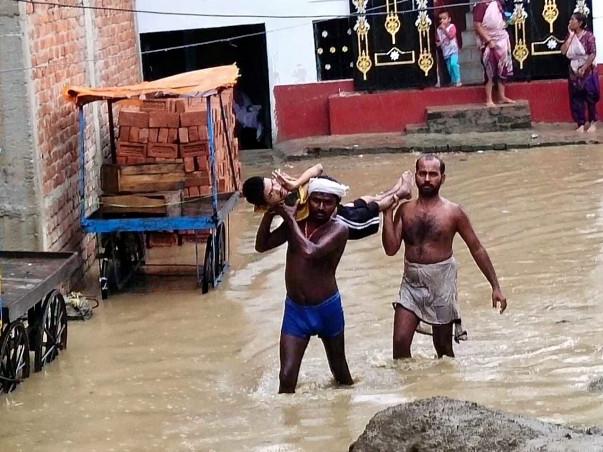 बाढ़ राहत शिविर जहानाबाद