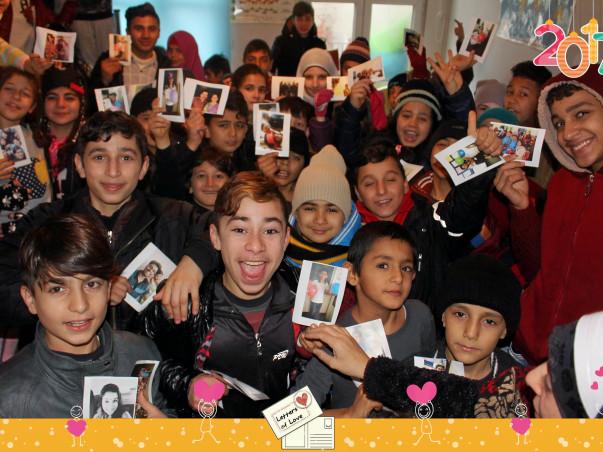 Help Letters of Love send Handwritten Postcards to Refugee Children.