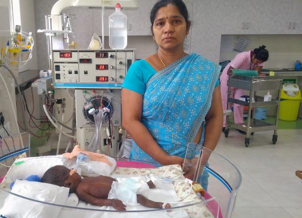 Help Baby of Vinodha Get Treatment For Pneumonia And Prematurity