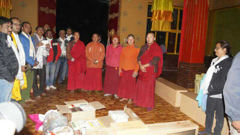 Stationaries, Solar lamps, TV donated to Kaza Monastery during Mega meet 2014