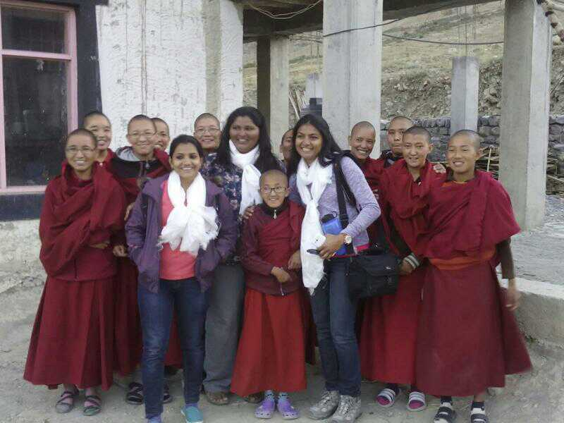 DoW members after visiting a Nunnery in Kaza