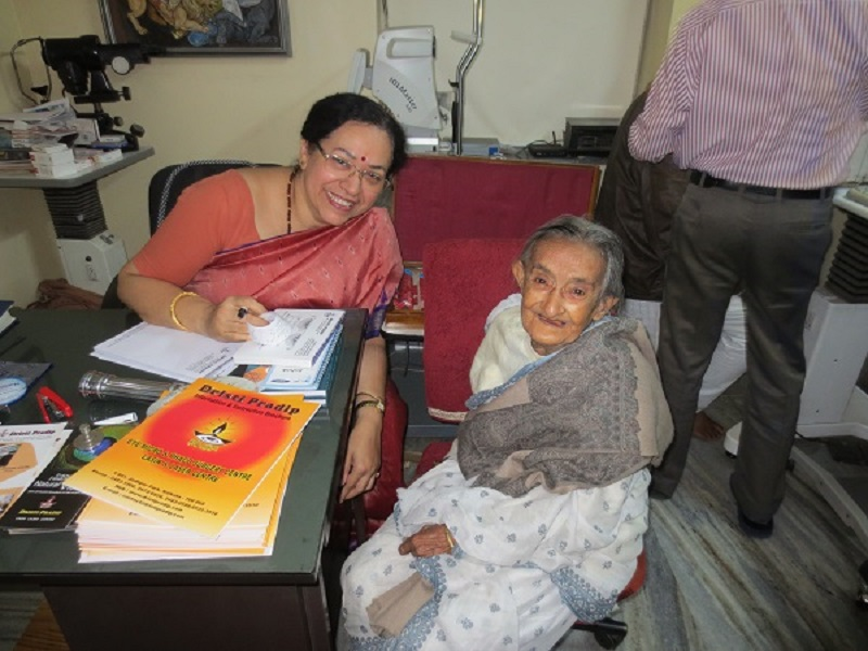 Shila with Dr. Keya Sen