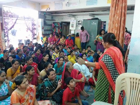 Our HM Mrs. Bhalerao Ma'am addressing parents during PTM.