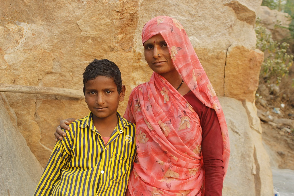 Amar with his mother Uma.
