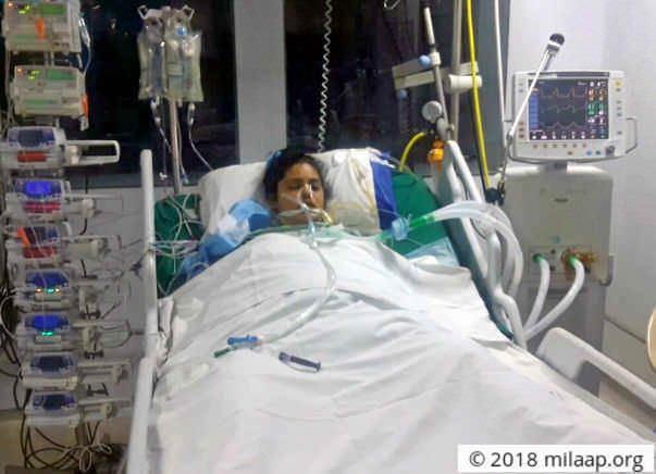 christ university admissions: Sharifa Is On Ventilator